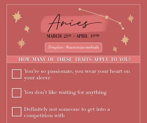 aries, astrology, and checklist image