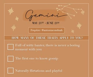astrology, checklist, and gemini image
