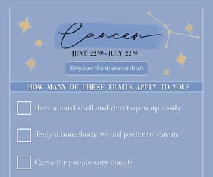 astrology, cancer, and checklist image