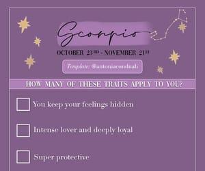 astrology, checklist, and scorpio image