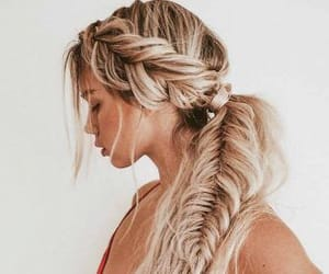blonde, braids, and fishtail image