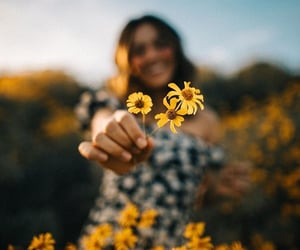 flowers, girl, and inspo image