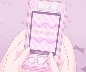 anime, gif, and phone call image