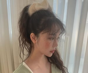 aesthetic, asian, and curly hair image