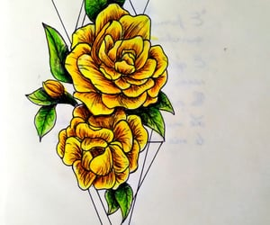 draw, yellow, and drawing image