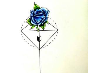 blu, circle, and drawing image