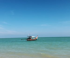 beach, ocean, and outdoor image