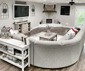 coffee table, couch, and farmhouse image