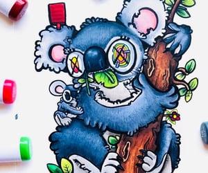 art, drawing, and Koala image