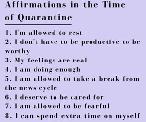 quote, affirmations, and quarantine image