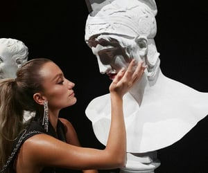 art, statue, and white image
