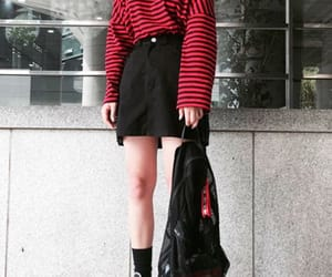 asian, black and red, and clothes image