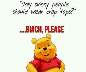 Pooh bear, crop tops, and winnie the pooh image