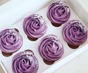 cupcakes, lilac, and pretty image