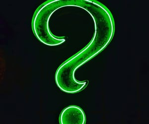 green, question mark, and riddler image