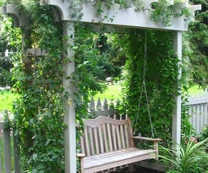 garden and swing image