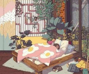 gif, art, and sleep image