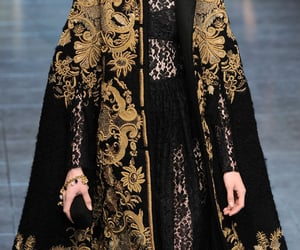 fashion, gold, and black image