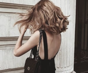 bag, blonde hair, and chanel image