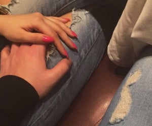 couple, hands, and nails image