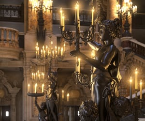 architecture, candle, and luxury image