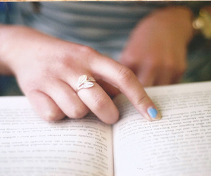 book, vintage, and ring image