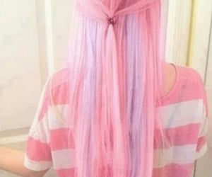 hair style, pink hair, and purple hair image