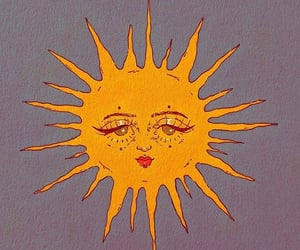 sun, art, and colors image