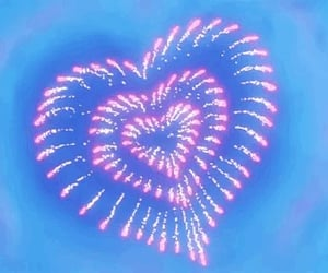 fireworks, heart, and gif image