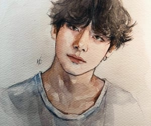 v and watercolor image
