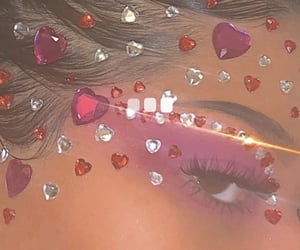 eye, eye makeup, and gems image