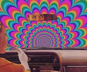 aesthetic, car, and rainbow image