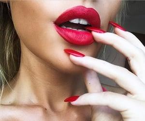 fashion, labios, and makeup image