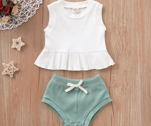 baby clothes, ruffled top, and fashionable image