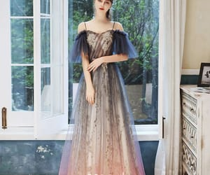 girl, tulle dress, and long dress image