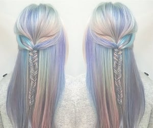 hair style, hair blue, and girls stuff image
