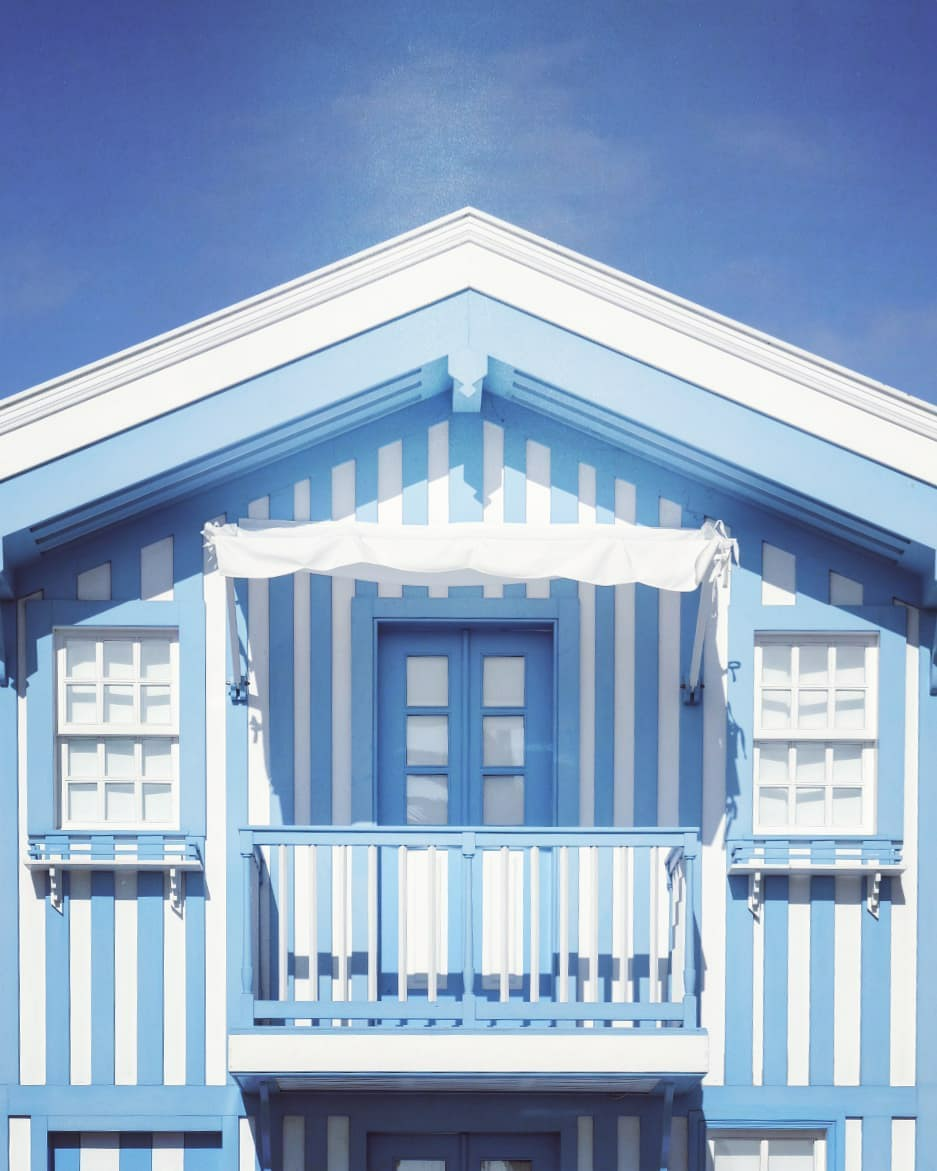 blue, facade, and striped image