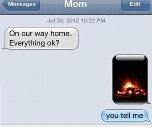 funny, text, and mom image