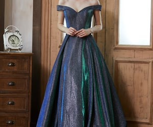 evening dress, evening gown, and formal wear image