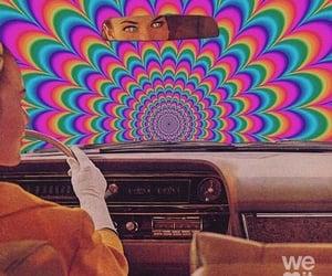 aesthetic, car, and rainbow image