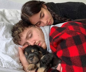 couple, puppy, and love image
