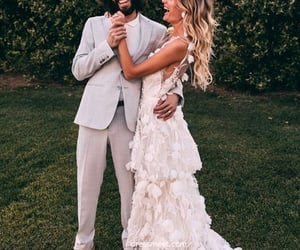 wedding dress, wedding gown, and lace wedding dress image
