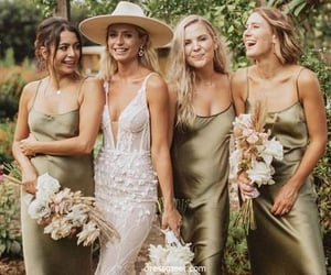 party dress, bridesmaid dress, and wedding party dress image