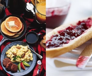 bread, breakfast, and jam image
