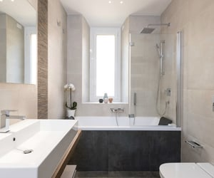 apartment, design, and sink image