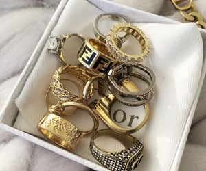 fendi, dior, and rings image