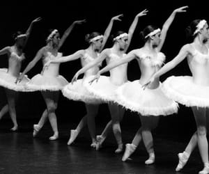 ballerina, ballet, and monochrome image