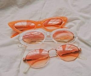fashion, orange, and sunglasses image