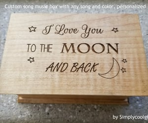 etsy, moon and stars, and custom music box image