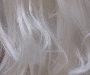 hair, white, and aesthetic image